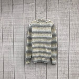 Natural Reflections Sweaters - Natural Reflections cream & wheat stripe sweater L